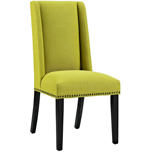 Modway Furniture Baron Fabric Dining Chair in Wheatgrass