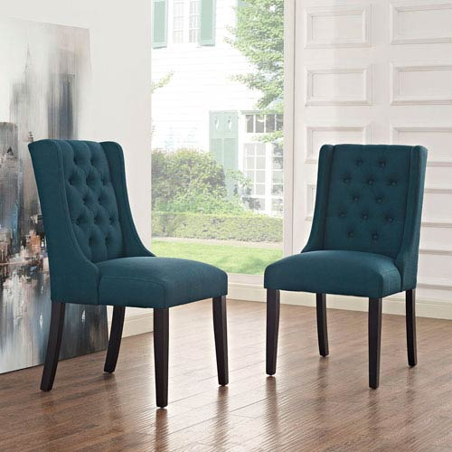Modway Furniture Baronet Fabric Dining Chair In Azure Eei 2235 Azu