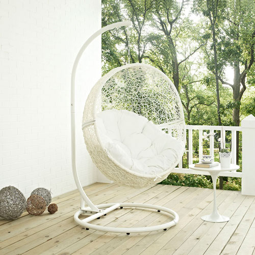 Hide Outdoor Patio Swing Chair in White