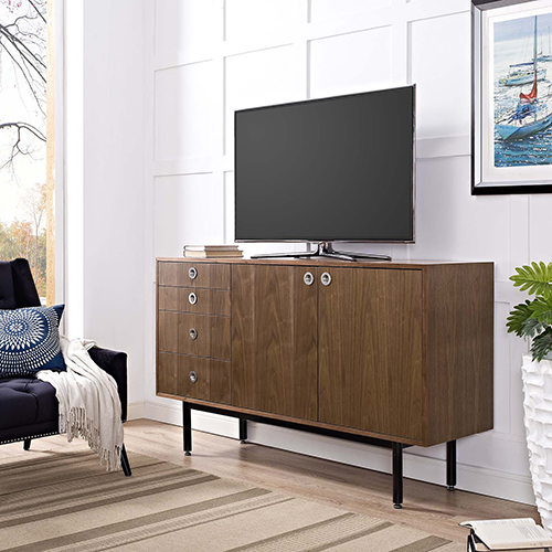 Modway Furniture Delegation Stand in Walnut