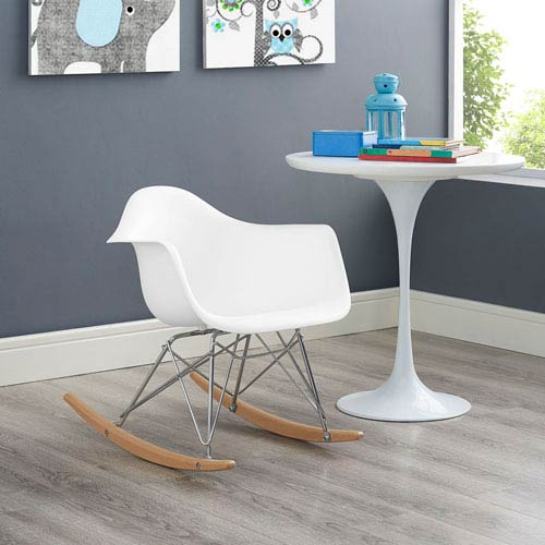 Rocker Kids Chair in White