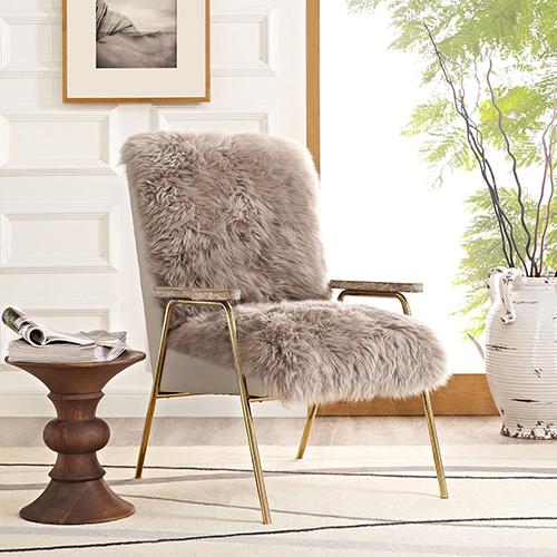Sprint Wool Armchair in Brown Brown