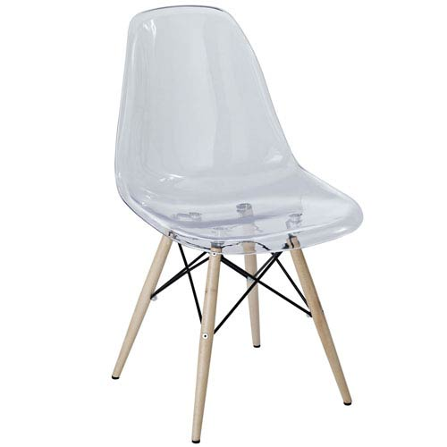 Pyramid Dining Side Chair in Clear