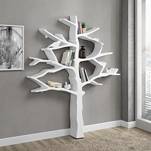 Knowledge Bookcase in White
