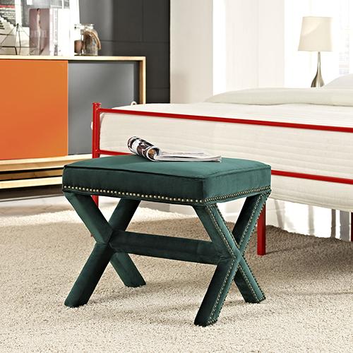 Modway Furniture Rivet Bench in Green