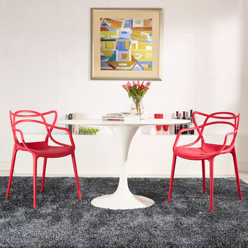 Entangled Dining Set  of 2 in Red