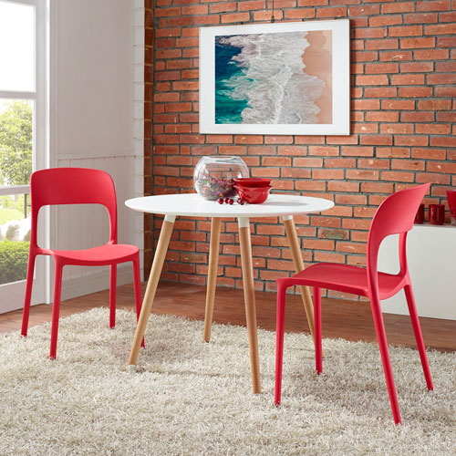 Modway Furniture Hop Dining Set Of 2 In Red