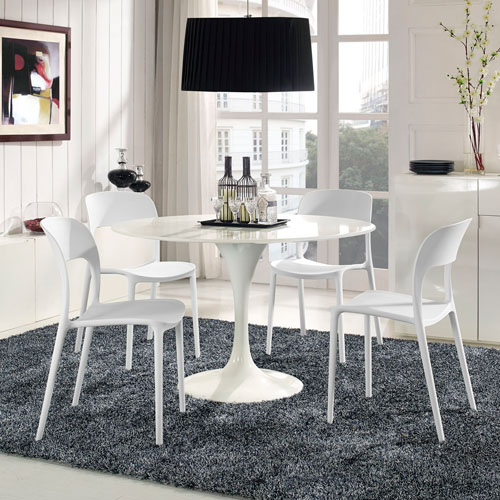 Hop Dining Set  of 4 in White