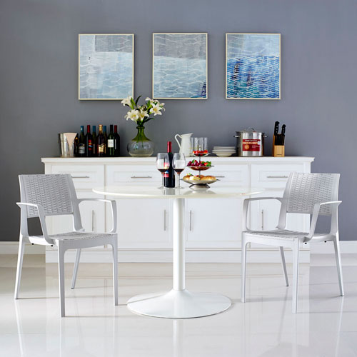 Modway Furniture Astute Dining Set Of 2 In Gray