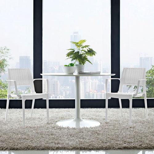 Astute Dining Set  of 2 in White