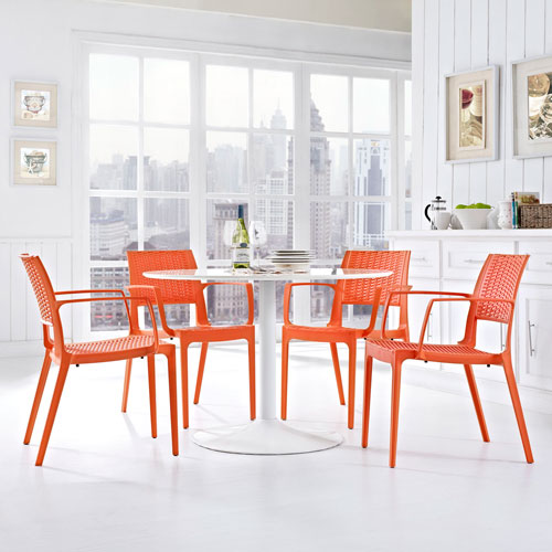 Astute Dining Set  of 4 in Orange