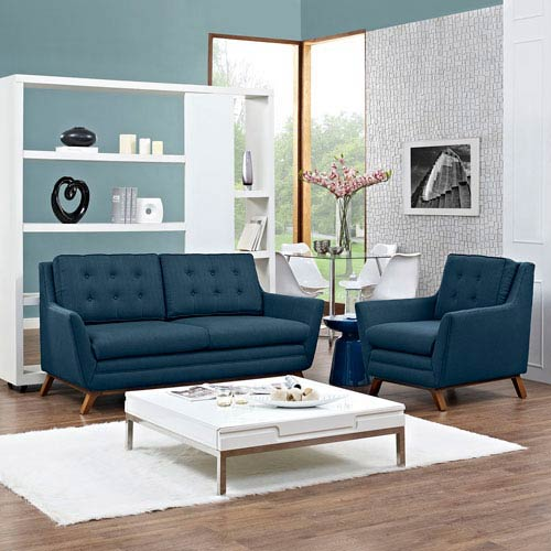 Remarkable Modway Furniture Beguile Living Room Set Fabric Set Of 2 In Azure Download Free Architecture Designs Scobabritishbridgeorg