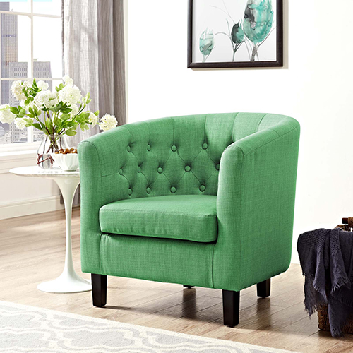 Modway Furniture Prospect Upholstered Armchair In Kelly Green
