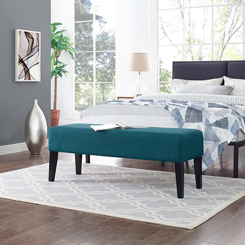 Modway Furniture Connect Wood Bench in Teal