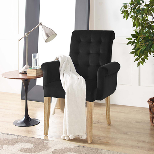 Premise Wood Armchair in Black