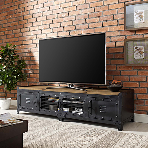 Dungeon TV Stand in Black