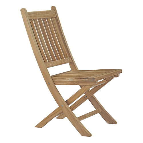 Modway Furniture Marina Outdoor Patio Teak Folding Chair In Natural