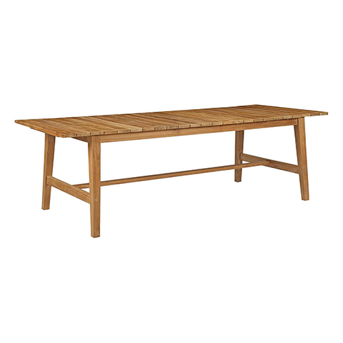 Dorset Outdoor Patio Teak Dining Table in Natural