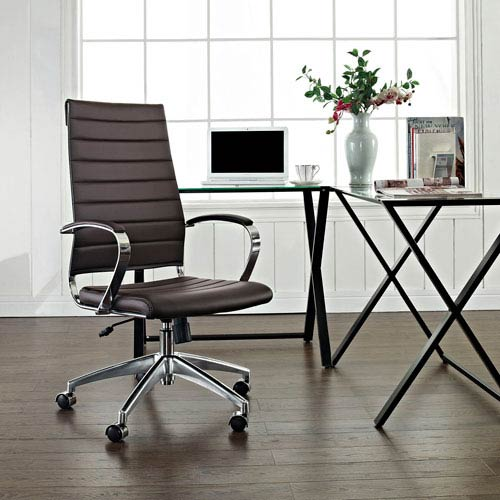 Modway Furniture Jive Highback Office Chair in Brown