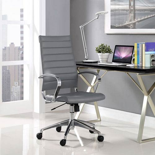 Modway Furniture Jive Highback Office Chair in Gray