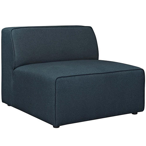 Modway Furniture Mingle Fabric Armless in Blue