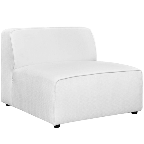 Modway Furniture Mingle Fabric Armless in White