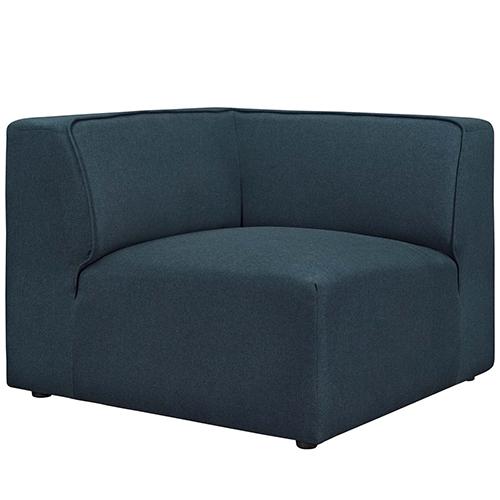 Modway Furniture Mingle Corner Sofa in Blue