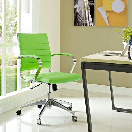 Jive Mid Back Office Chair in Bright Green