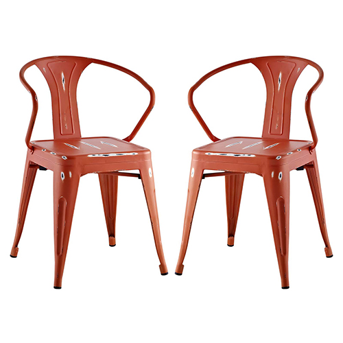 Promenade Dining Chair Set of 2 in Red