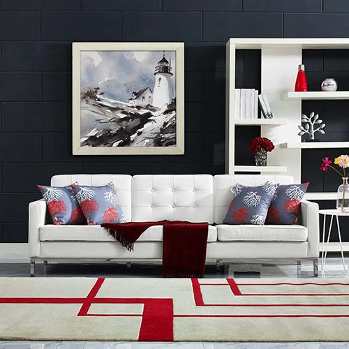Loft Leather Sofa in White