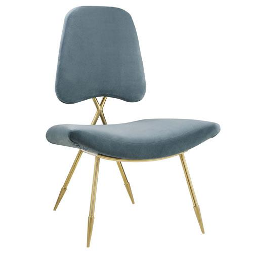 Modway Furniture Ponder Upholstered Velvet Lounge Chair