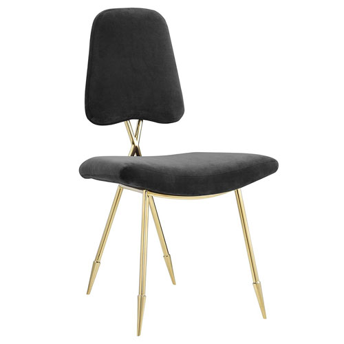 Modway Furniture Ponder Upholstered Velvet Dining Side Chair