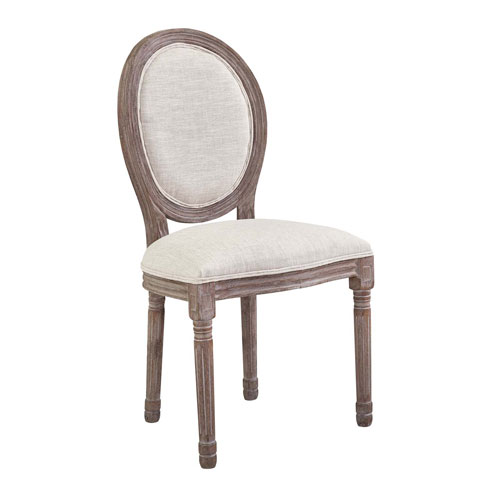 Modway Furniture Emanate Vintage French Upholstered Fabric Dining Side Chair