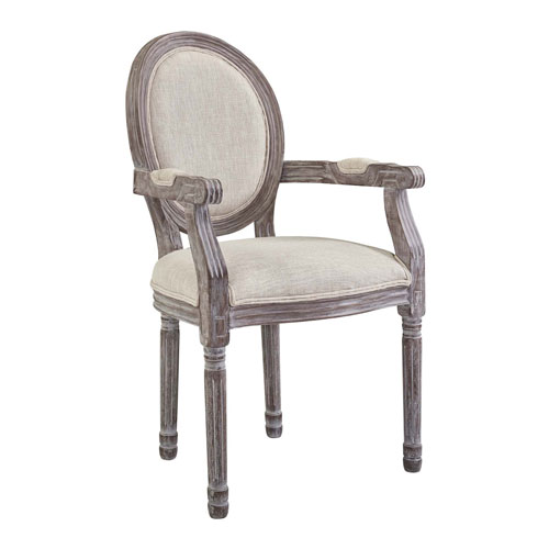 Modway Furniture Emanate Vintage French Upholstered Fabric Dining Armchair