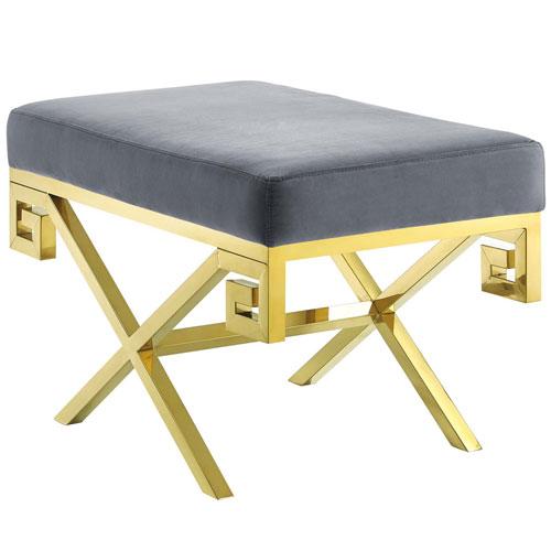 Modway Furniture Rove Velvet Bench