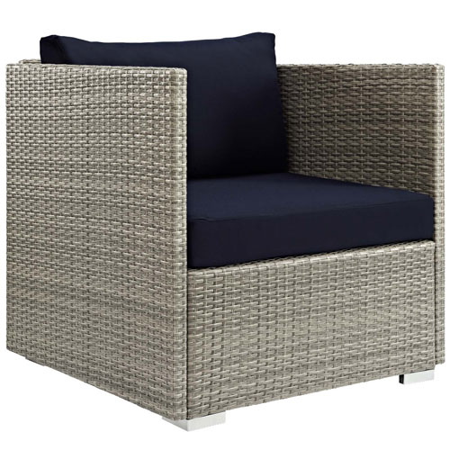 Repose Sunbrella Fabric Outdoor Patio Armchair