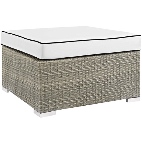 Modway Furniture Repose Outdoor Patio Upholstered Fabric Ottoman