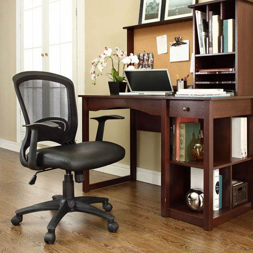 Modway Furniture Pulse Vinyl Office Chair in Black