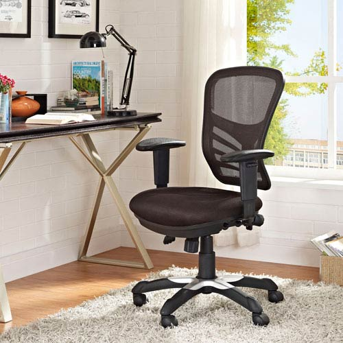 Modway Furniture Articulate Mesh Office Chair In Brown