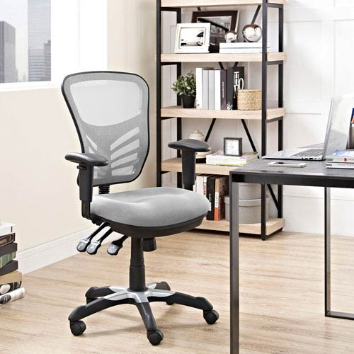 Modway Furniture Articulate Mesh Office Chair In Gray Eei 757 Gry Bellacor