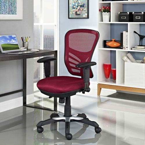 Modway Furniture Articulate Mesh Office Chair in Red
