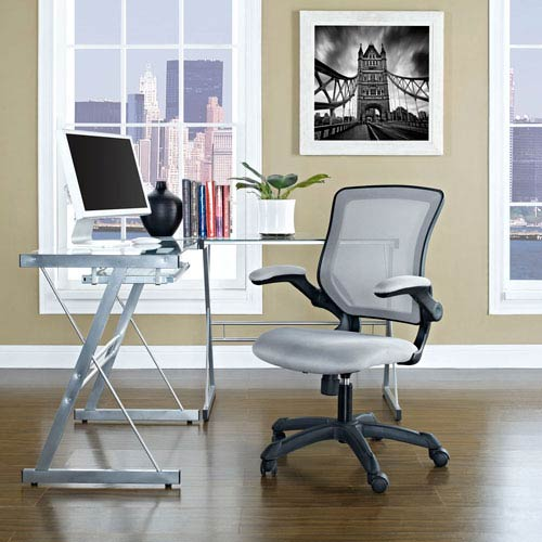 Modway Furniture Veer Mesh Office Chair in Gray