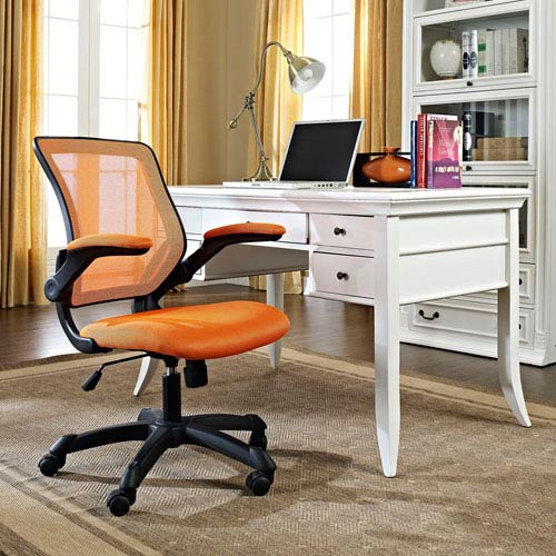 Modway Furniture Veer Mesh Office Chair In Orange