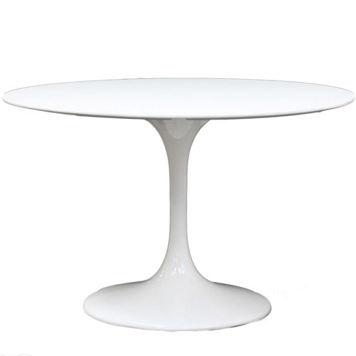Lippa 40-Inch Fiberglass Dining Table in White