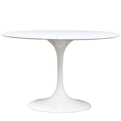 Lippa 48-Inch Fiberglass Dining Table in White