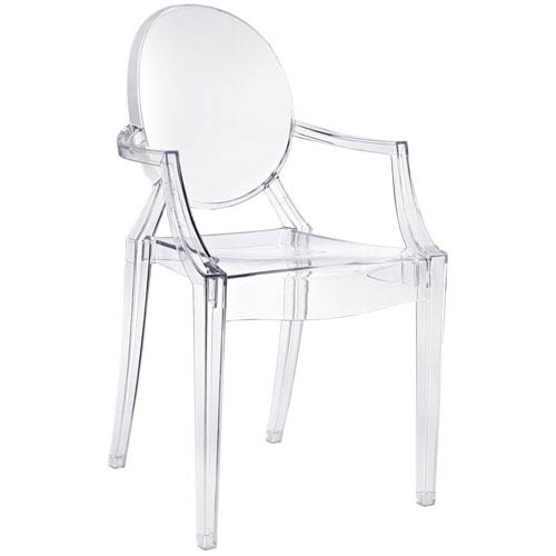 Modway Furniture Casper Dining Chair in Clear