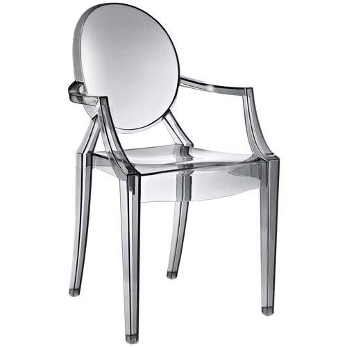 Modway Furniture Casper Dining Chair in Smoke