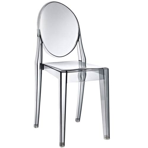 Casper Dining Chair in Smoked Clear