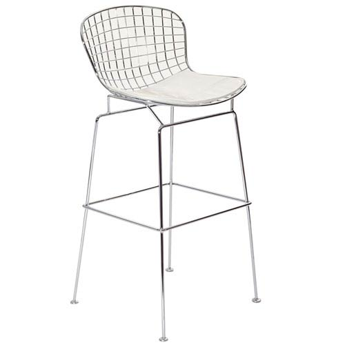 Modway Furniture CAD Bar Stool in White