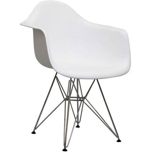 Modway Furniture Paris Dining Chair in White
